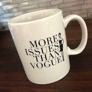 """Home Essentials """"More Issues than Vogue"""" mug"""